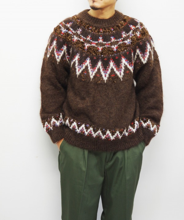 COOHEM/コーヘン MOHAIR NORDIC KNIT P/O (全3色)