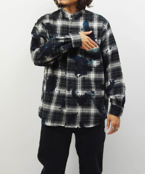 Bohemians/ボヘミアンズ MOLD CHECK STAND COL SHIRTS