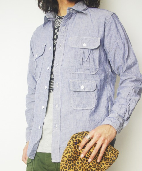 Engineered Garments/エンジニアド ガーメンツ Mil Shirt - Chambray MAPS SPECIAL MODEL 【MAPSのスペシャル】