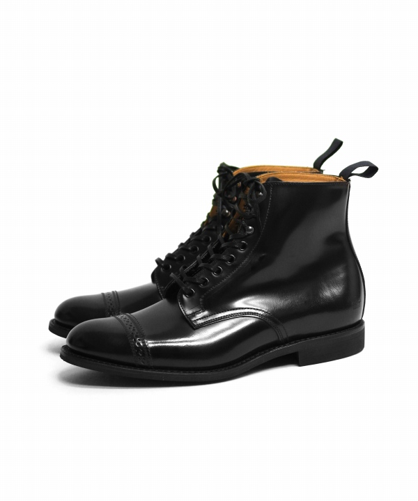 SANDERS/サンダース Military Cap Toe Derby Boot