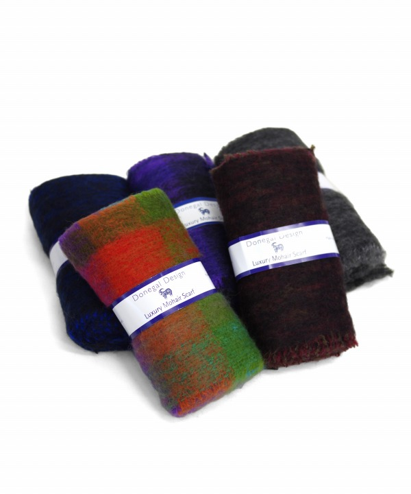 Donegal Design/ドネガルデザイン Mohair Classic Scarf
