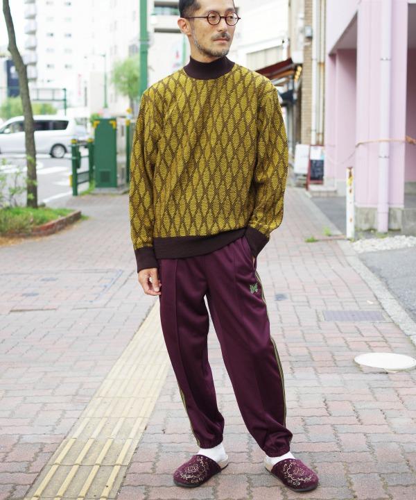 ニードルズ/Needles  Mock Neck Sweater - Wave Stripe