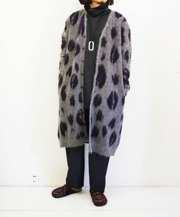 ニードルズ/Needles Mohair Long Cardigan - Leopard
