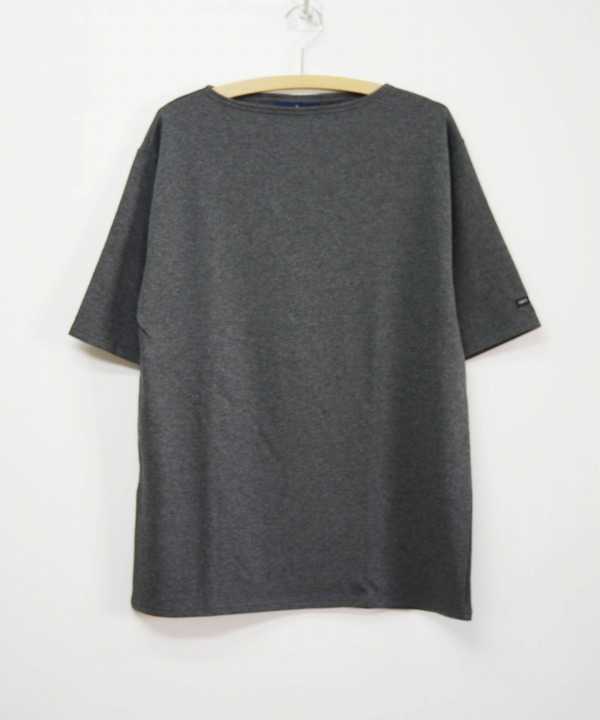 Saint James/セントジェームス OUESSANT LIGHT S/S - SOLID ASIER(霜降りチャコール)