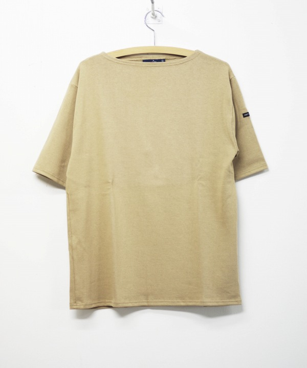 Saint James/セントジェームス OUESSANT LIGHT S/S - SOLID SABLE(ベージュ)