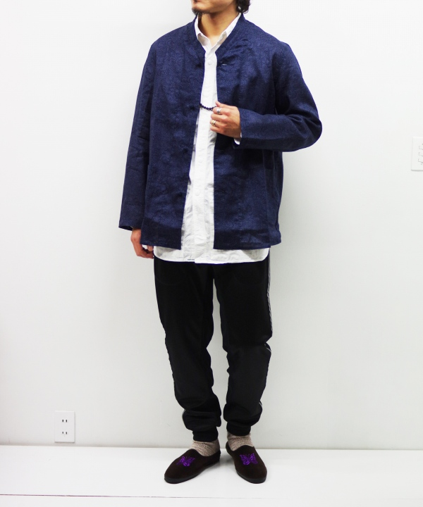 Needles/ニードルズ Oriental Button Stand Collar Coverall - Linen Cloth / Paisley Print
