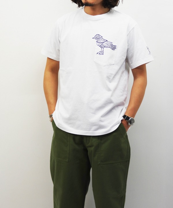 Engineered Garments/エンジニアド ガーメンツ Printed Cross Crew Neck T-shirt - Phoenix (全2色)