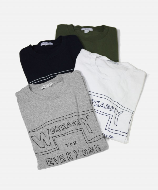 Engineered Garments Workaday/エンジニアド ガーメンツ ワーカデイ Printed Crossover Neck Pocket Tee - Workaday for Everyday