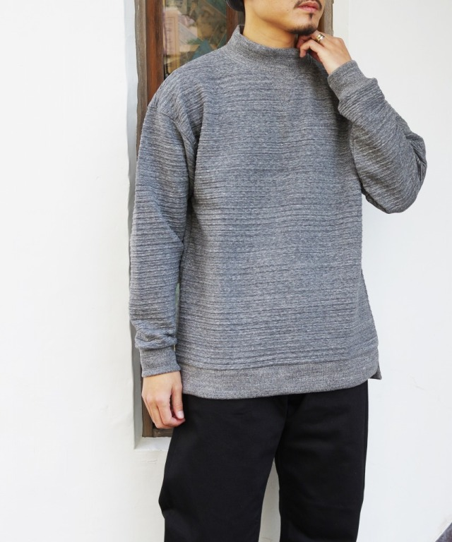 Jackman/ジャックマン Quilt Sweat V-Highneck