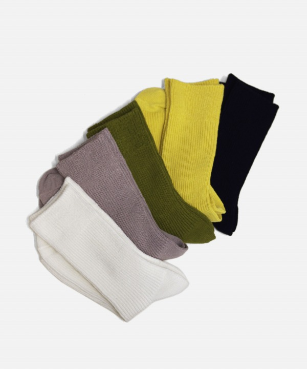 ROTOTO/ロトト RECYCLED COTTON RIBBED CREW SOCKS