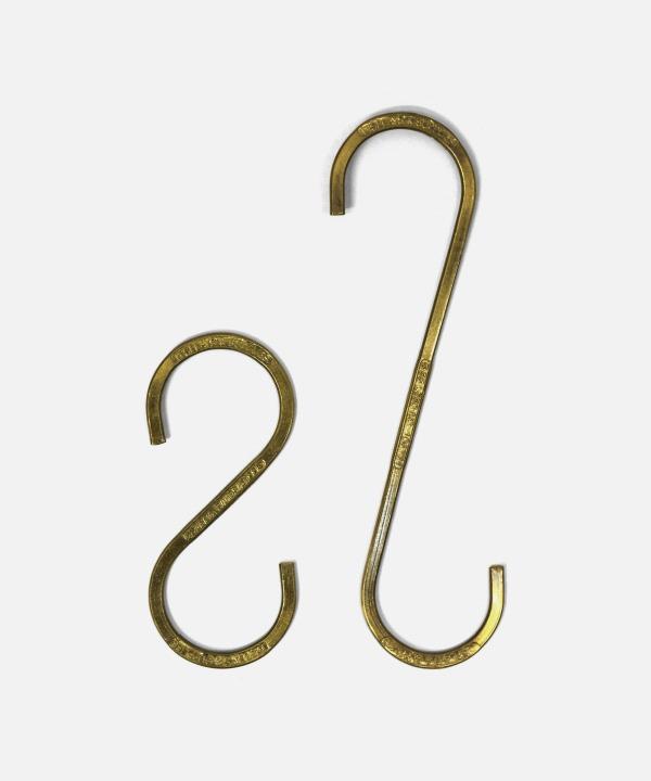 PUEBCO/プエブコ S-HOOK Brass (2個セット)