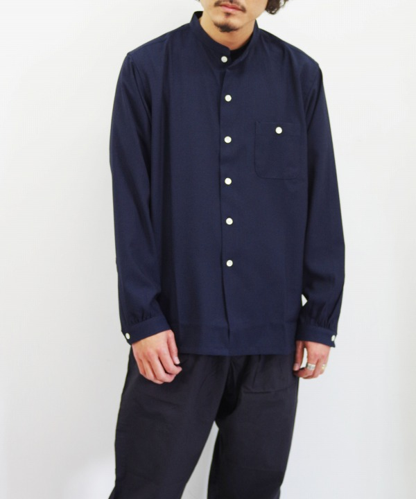 the conspires/コンスパイアーズ SC Stand Collar Long Sleeve Shirt