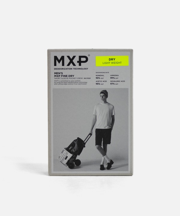 MXP/エムエックスピー SHORT SLEEVE POCKET CREW - FINE DRY