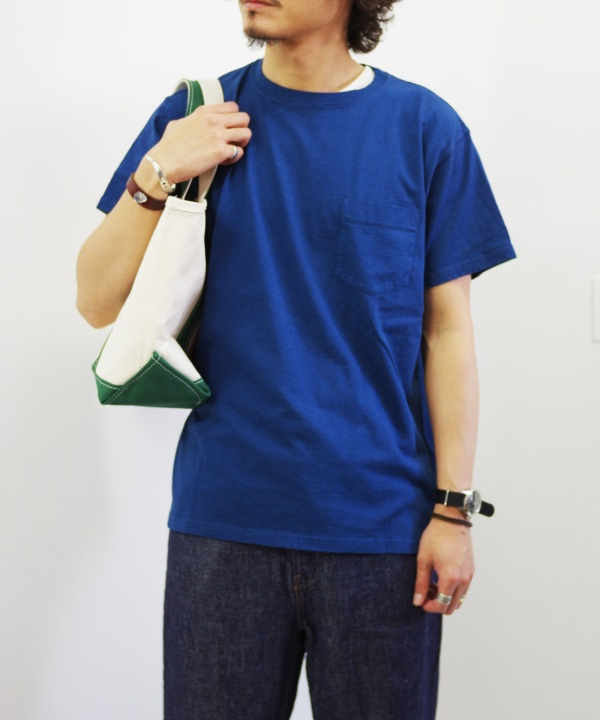 Good On/グッドオン S/S POCKET TEE - REACTIVE DYE