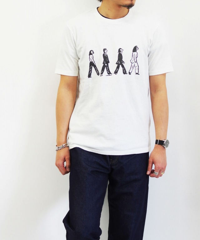 CHIRISTOPHER BROWN/クリストファー ブラウン S/S PRINT TEE - BEATLES (全2色)