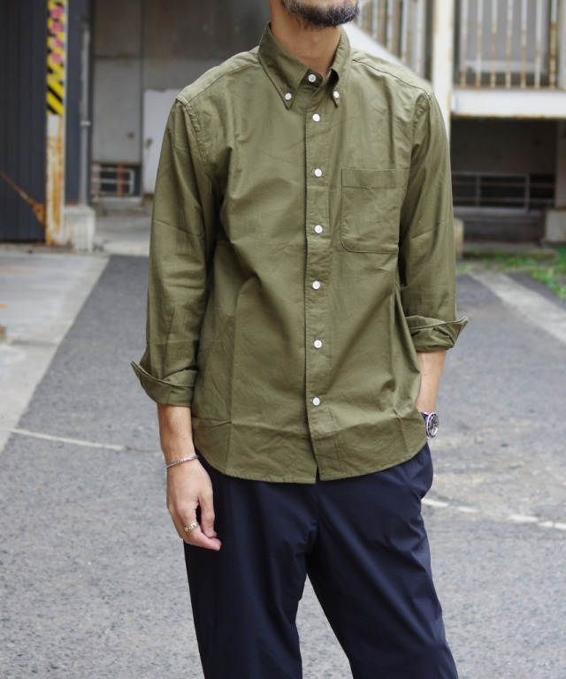 Manual Alphabet/マニュアルアルファベット SUPIMA OX BD SHT/Bulging Fit - OLIVE 【MAPSの定番】