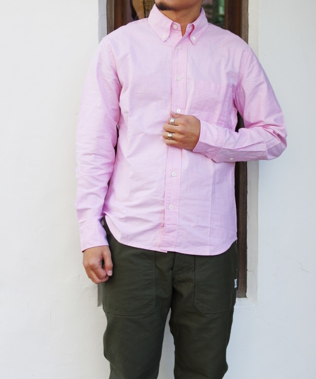 Manual Alphabet/マニュアルアルファベット SUPIMA OX BD SHT/Bulging Fit - PINK 【MAPSの定番】