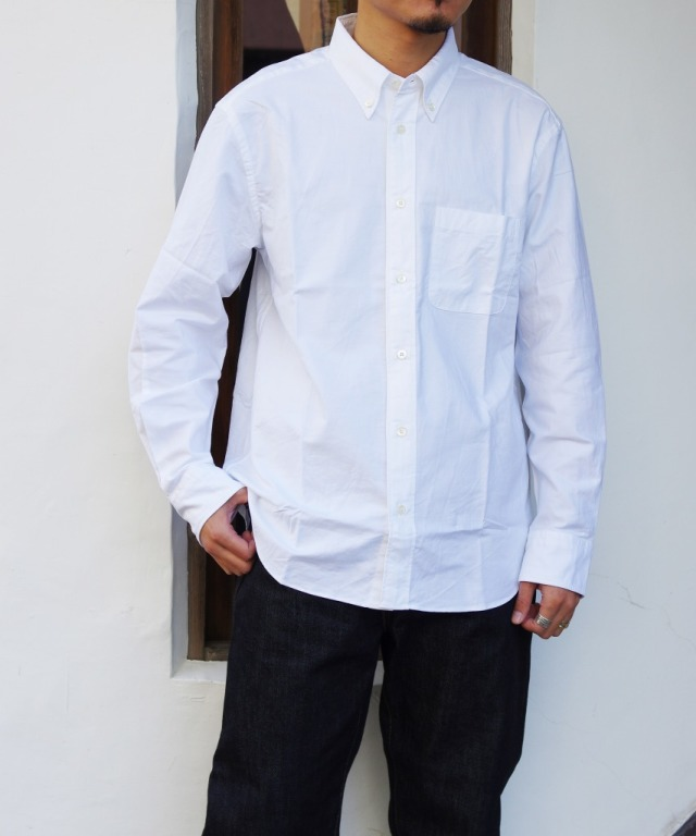 Manual Alphabet/マニュアルアルファベット SUPIMA OX BD SHT/Bulging Fit - WHITE