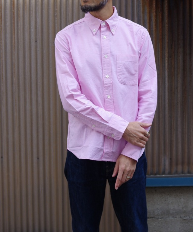 Manual Alphabet/マニュアルアルファベット SUPIMA OX BD SHT/Suitable Fit - PINK 【MAPSの定番】