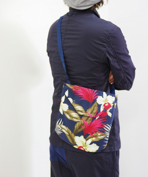 Engineered Garments/エンジニアド ガーメンツ Shoulder Pouch - Hawaiian Floral Java Cloth