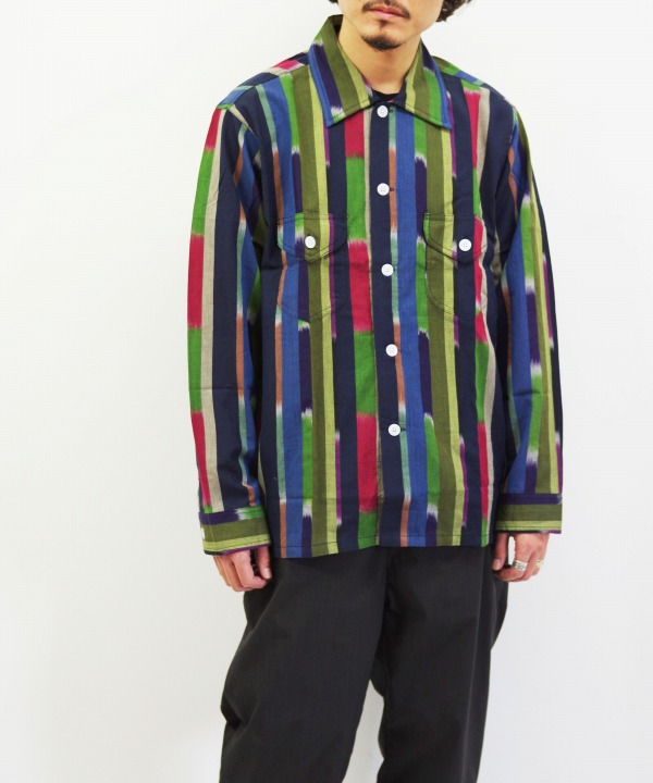 South2 West8/サウス2 ウエスト8 Smokey Shirt - Cotton Cloth / Ikat Pattern(全2色)