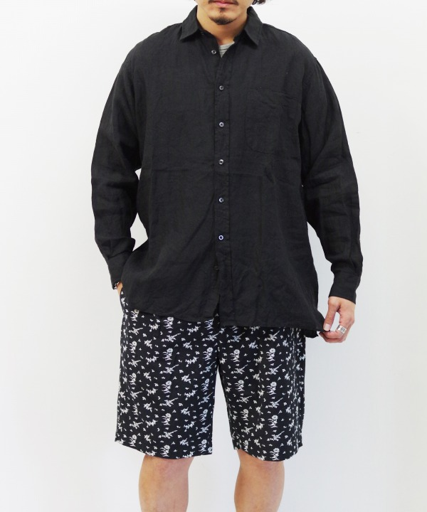 INDIVIDUALIZED SHIRTS/インディビジュアライズドシャツ Square Cut Classic Fit Shirt - Black【MAPSのスペシャル】
