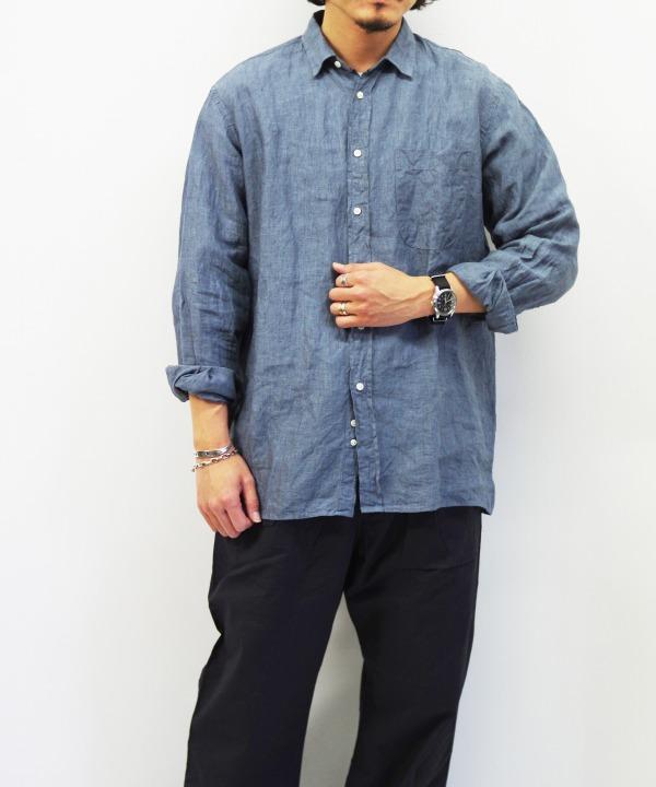 INDIVIDUALIZED SHIRTS/インディビジュアライズドシャツ Square Cut Classic Fit Shirt - Gray【MAPSのスペシャル】
