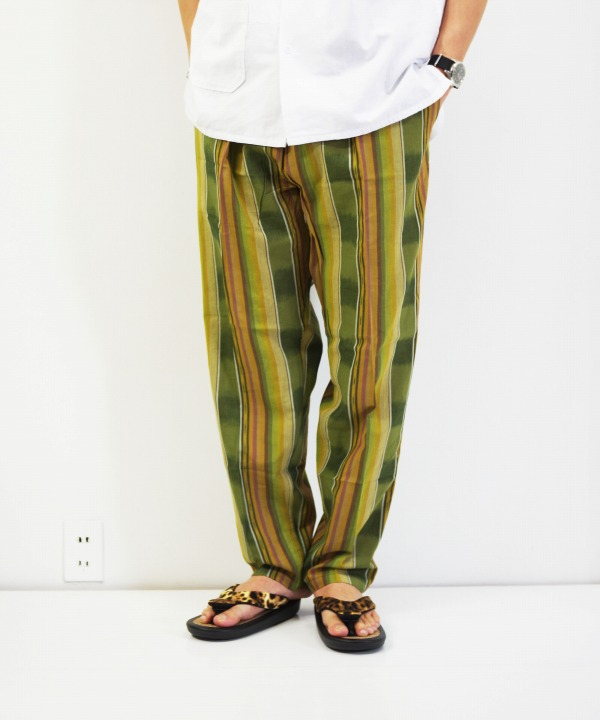 South2 West8/サウス2 ウエスト8 String Slack Pant - Cotton Cloth / Ikat Pattern