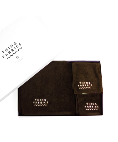 tHING FABRICS/シングファブリックス TIP TOP 365 towel Gift box - Brown
