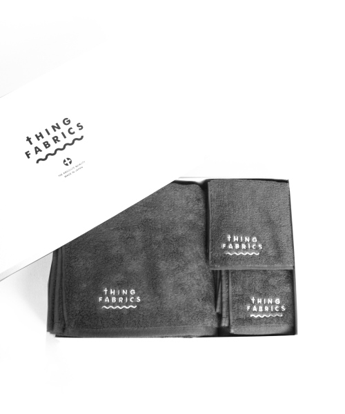 tHING FABRICS/シングファブリックス TIP TOP 365 towel Gift box - Grey 【MAPSの定番】