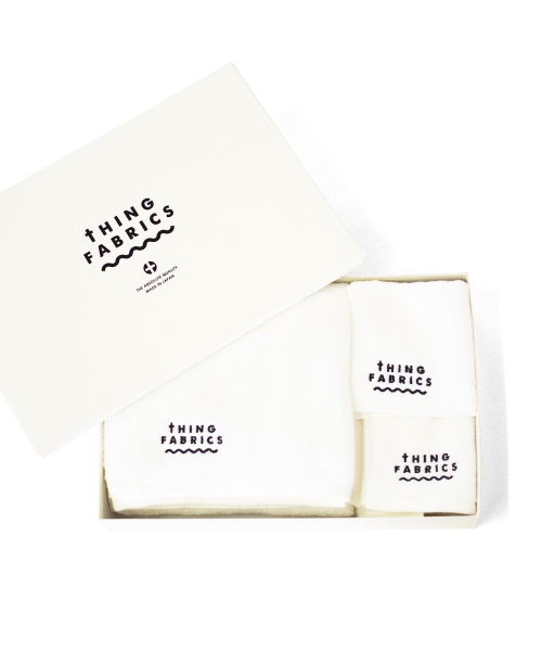 tHING FABRICS/シングファブリックス TIP TOP 365 towel Gift box - White