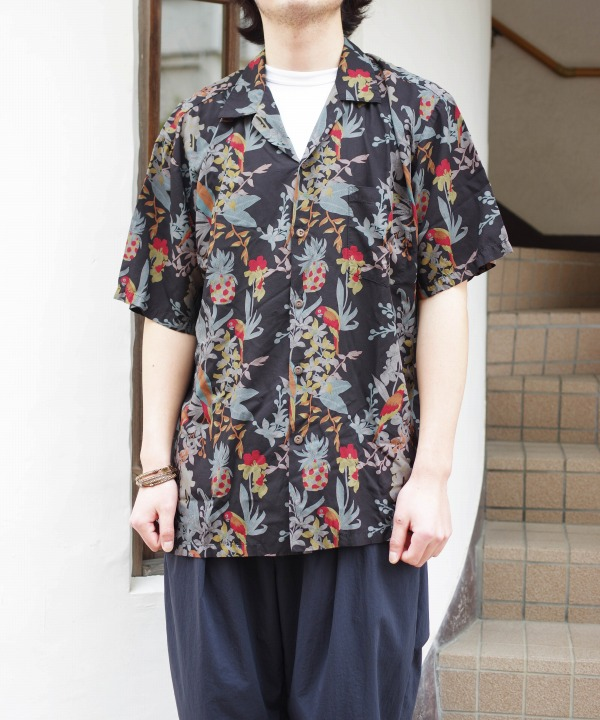 ツーパームス/TWO PALMS S/S Hawaiian Shirt / Rayon Garment Dye (全2色)
