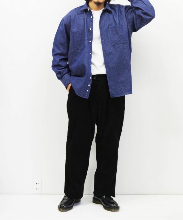 INDIVIDUALIZED SHIRTS/インディビジュアライズドシャツ UNIFORM SHIRTS - V DENIM