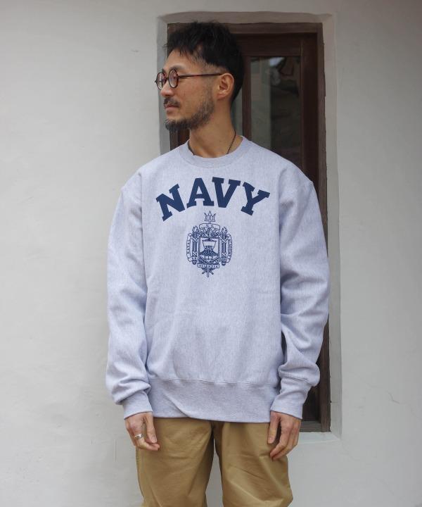 USNA OFFICIAL /アメリカ海軍兵学校オフィシャル REVERSE WEAVE CREW