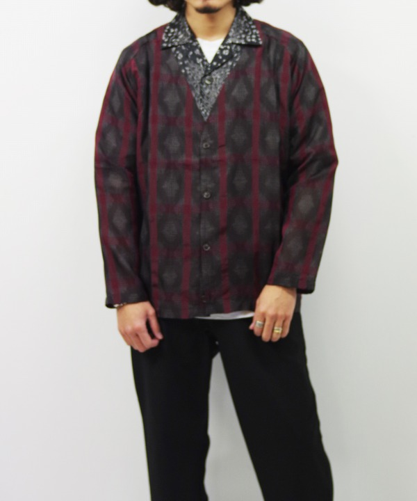 Needles/ニードルズ V Neck Cardigan - Splashed Plaid Jq.