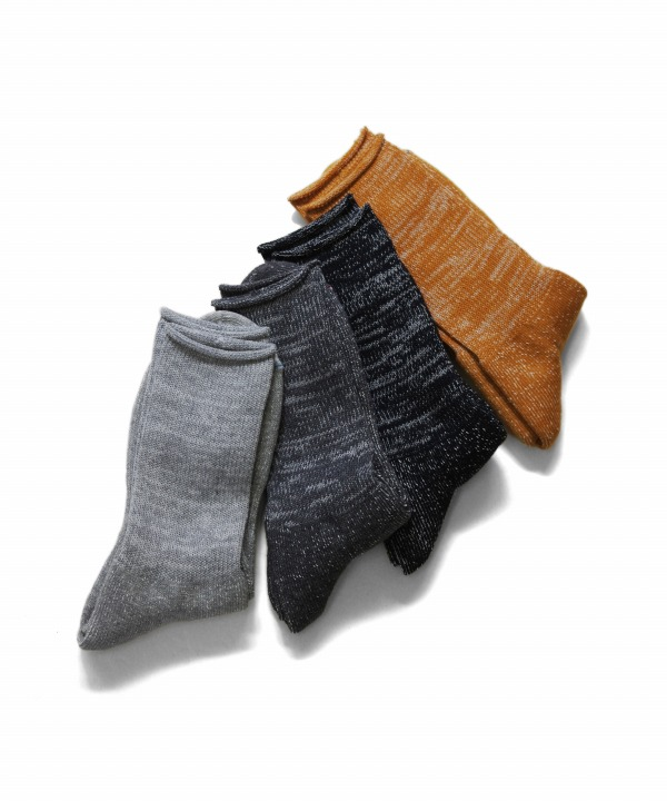 Ro To To/ロトト WASHI PILE CREW SOCKS