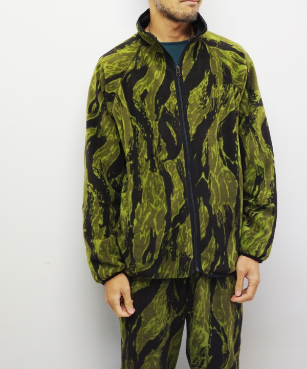 Needles Sportswear/ニードルズ スポーツウェア Warm-up Piping Jacket - Poly Fleece / Tiger Camo Stripe