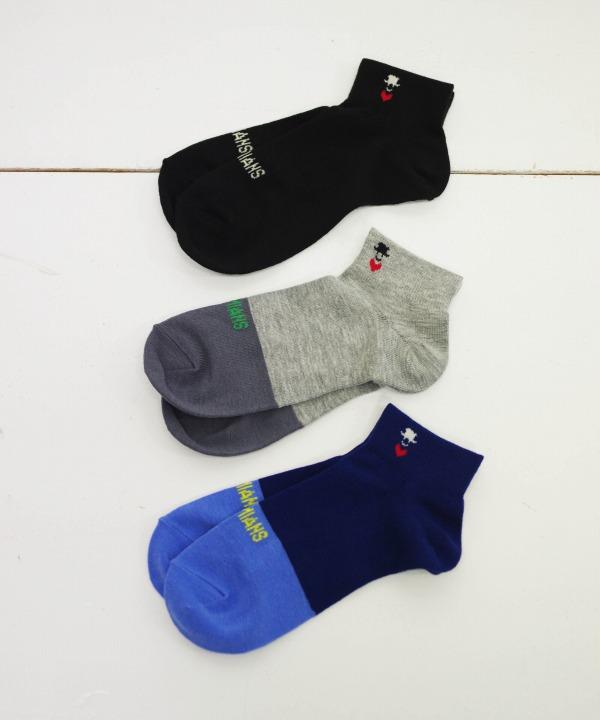 Bohemians/ボヘミアンズ SHORT SOCKS 2-TONE TOE (全3色)