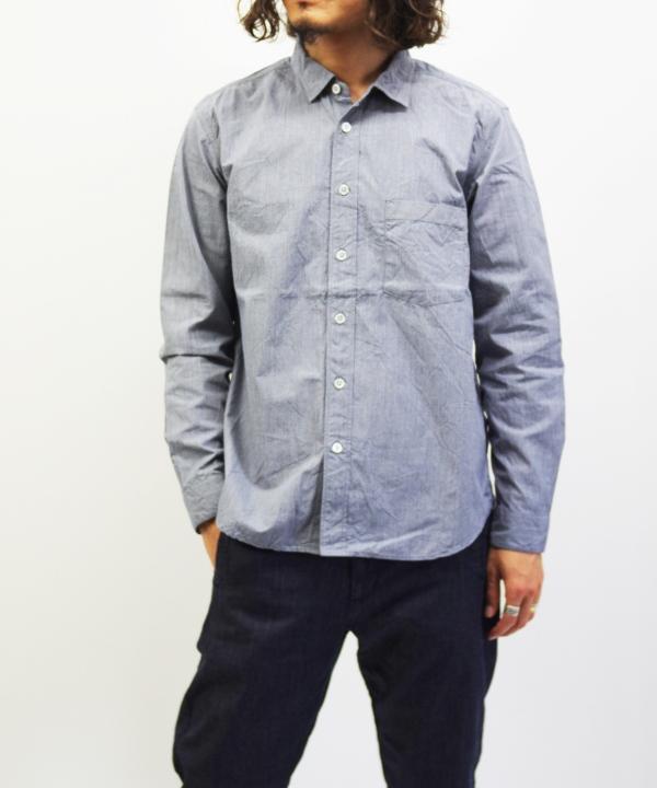 RINEN/リネン 80/2 ダウンプルーフ レギュラーカラーシャツ - ハケメ