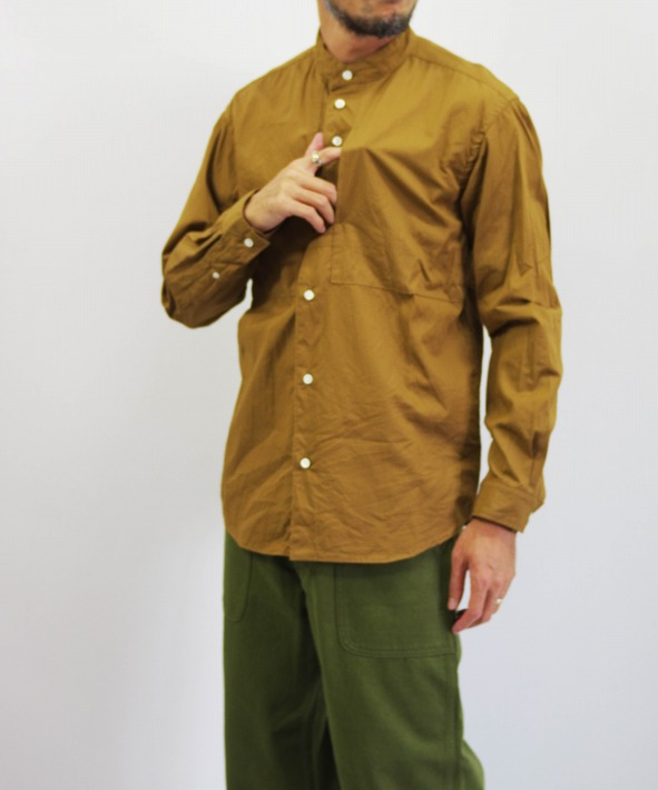 nisica/ニシカ バンドカラーシャツ (全2色)