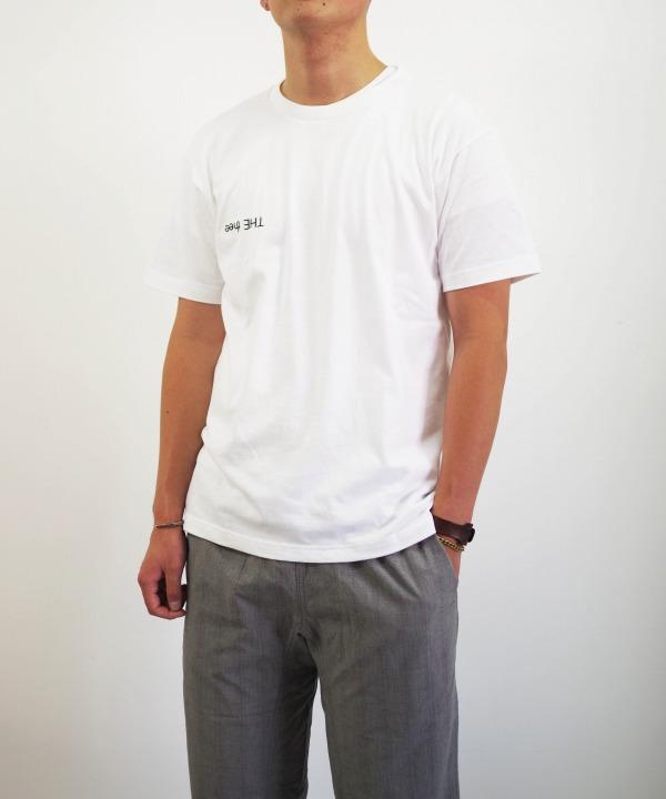 ニシカ/nisica フロッキープリント S/S Tシャツ 「THE thee」 (全2色)
