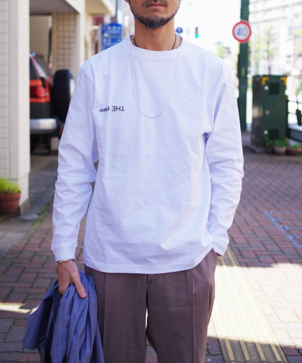 nisica/ニシカ フロッキープリント L/S Tシャツ 「THE thee」