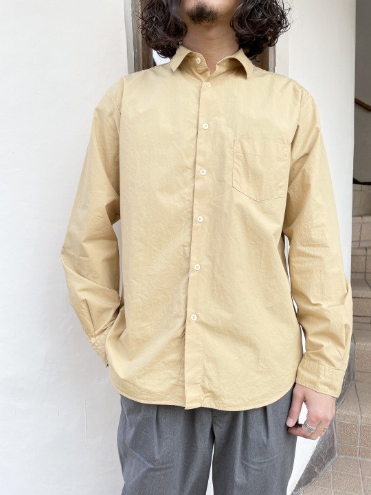Manual Alphabet/マニュアルアルファベット LOOSE FIT REGULAR COLLAR SHT (全4色)