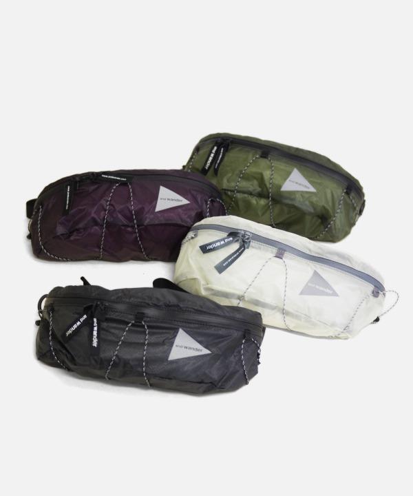 アンドワンダー/and wander sil waist bag