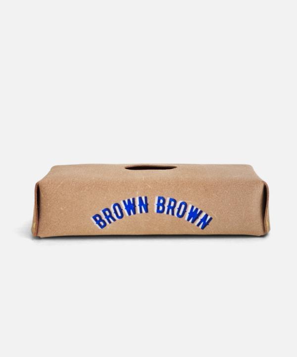 Brown Brown/ブラウンブラウン ステンシルティッシュボックスカバー (全4色)