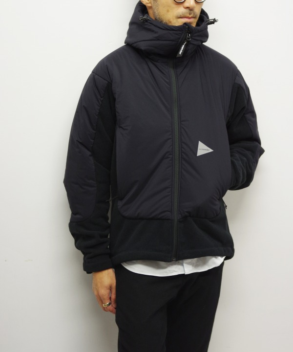 and wander/アンドワンダー top fleece jacket