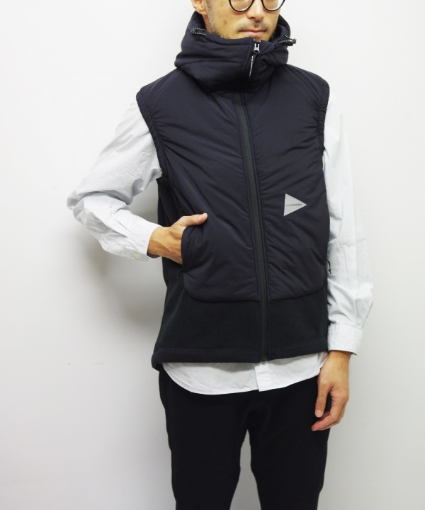 and wander/アンドワンダー top fleece vest