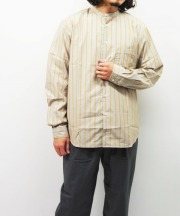 Manual Alphabet/マニュアルアルファベット LOOSE FIT BC BROAD STRIPE SHT