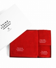 tHING FABRICS/シングファブリックス TIP TOP 365 towel Gift box - Red