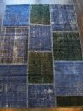 トルコ絨緞 パッチワーク オールド・アンティーク  リビングサイズラグ 192x140cm